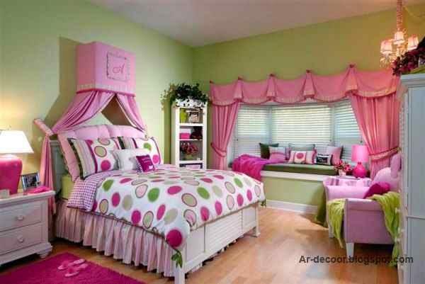 غرف نوم بنات روعة | تصاميم جديدة لغرف نوم البنات فى سن المراهقة