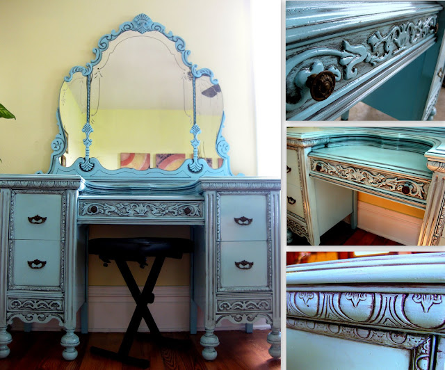 Eloise was made even more beautiful with the DIY glazing technique! - DIY Glazing And Antiquing Furniture Tutorial Reality Daydream