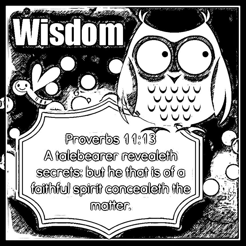 Childrens Gems In My Treasure Box: Wisdom Coloring Sheets