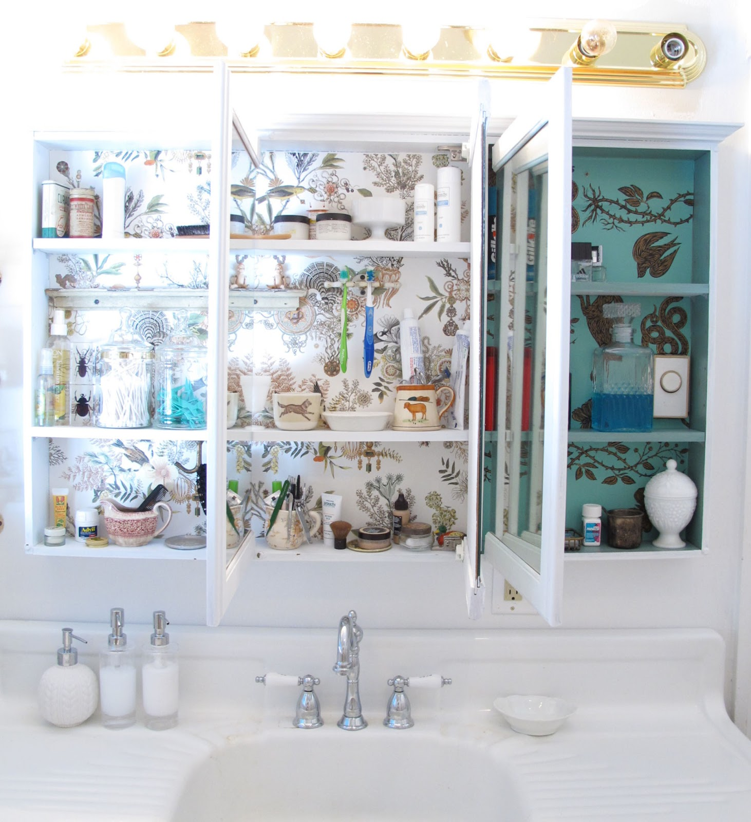 Bathroom Lights Went Out vintagecrystal: master bathroom tour!