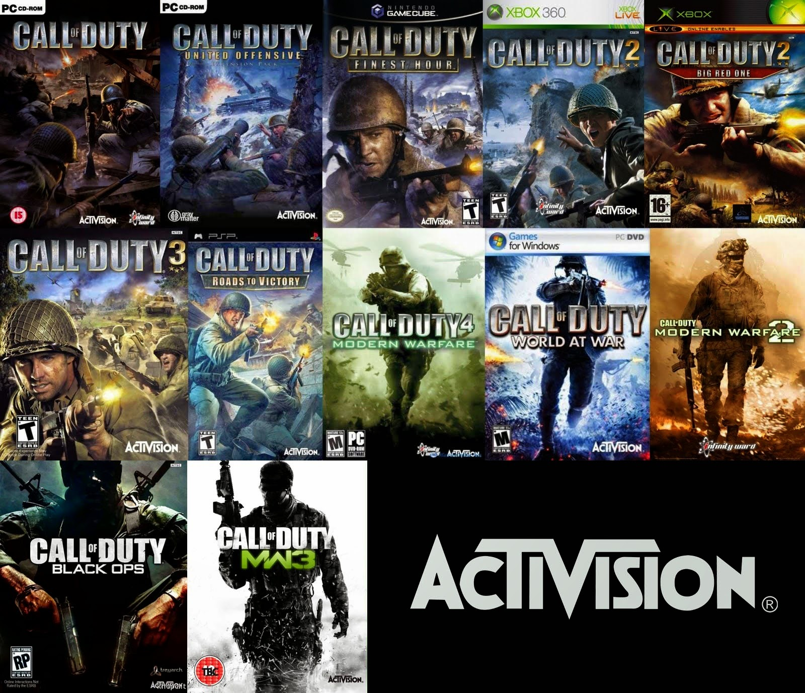 Call Of Duty Games Pack
