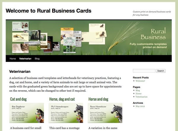 Rural Business Cards