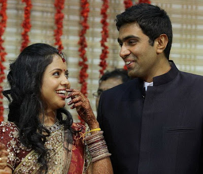 r ashwin and his wife  Ashiwn with Preeti at