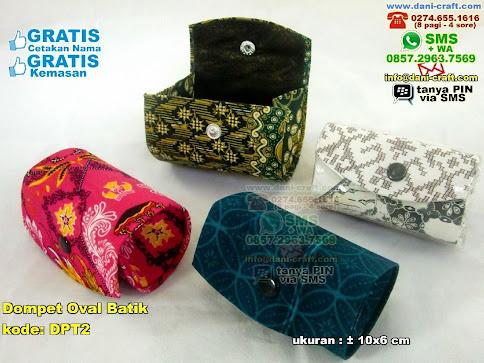 Dompet Oval Batik Karton Kain Batik