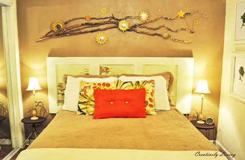 Please pin from the original source: http://www.creativelylivingblog.com/2012/06/whimsical-branch-wall-art.html