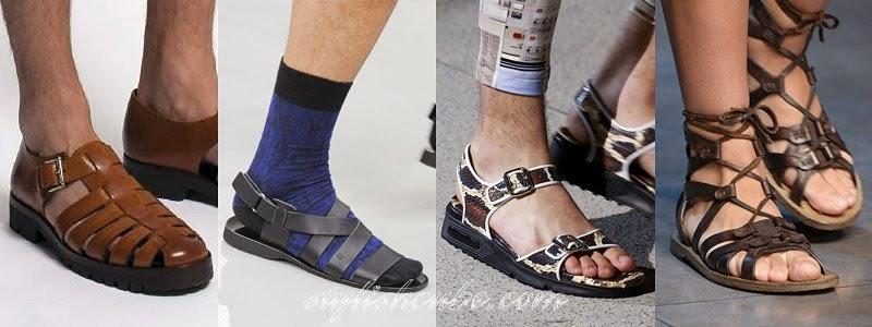 Summer 2014 Men's Sandals Fashion Trends