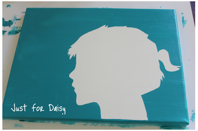 Silhouette Canvas - Just For Daisy