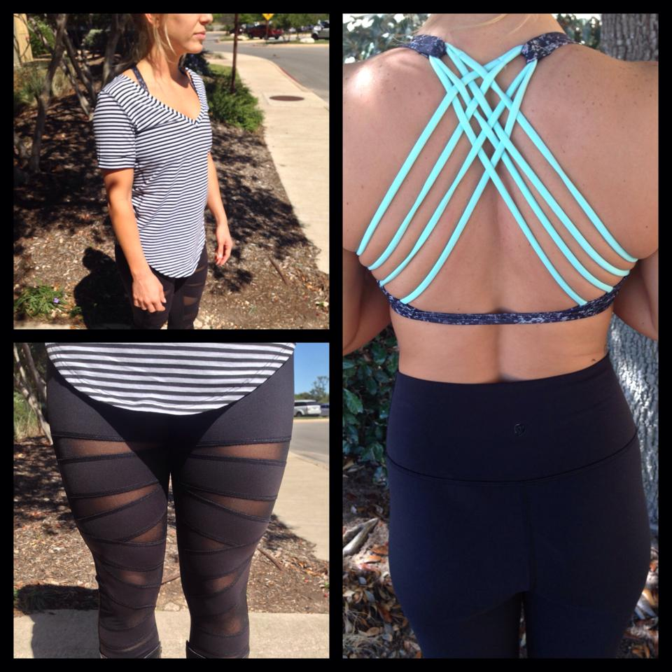 lululemon love tee tech mesh tight