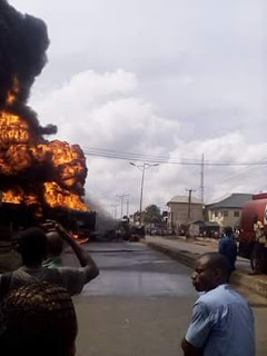 HAPPENING NOW: fire guts fuel station in owerri