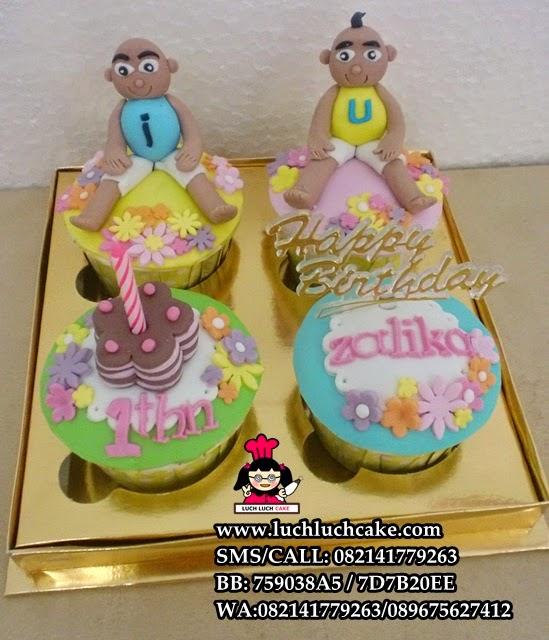 Cupcake Upin dan Ipin Daerah Surabaya - Sidoarjo