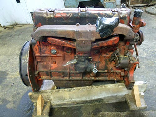 used IH tractor engine