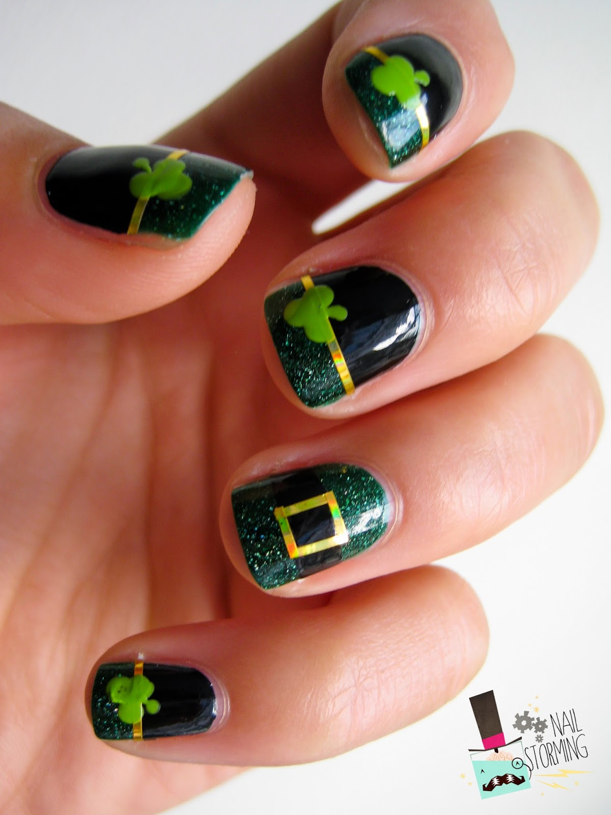 Pop & Cuticule, Saint Patrick, Kryptonite, Nail art vert