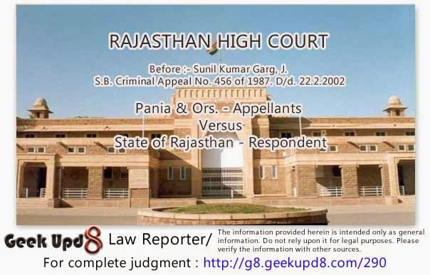 Rajasthan High Court - Accused entered the house of his wife when his marriage with prosecutrix was subsisting - Accused did not commit rape or caused any other injury - Conviction of accused under Section 458 IPC set aside