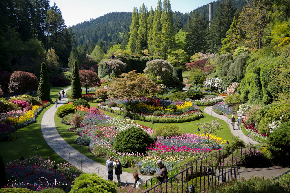 V136 Butchart Gardens The Empress Hotel And Costumery In Bc American Duchess