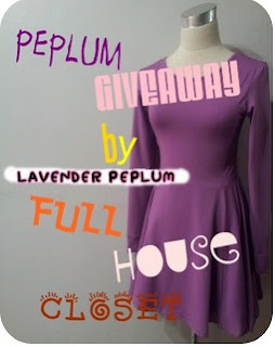 *PEPLUM GIVEAWAY* BY FULL HOUSE CLOSET
