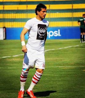 طارق حامد لاعب وسط نادي الزمالك