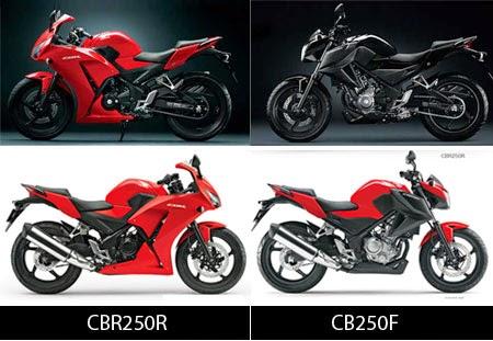 Perbedaan Honda CBR250R dan CB250F