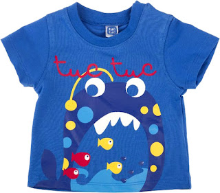 Boys Blue T-shirt - Tuc Tuc Marine Treasures