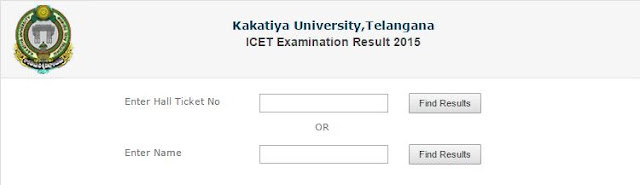 Kakatiya University ICET Result 2015