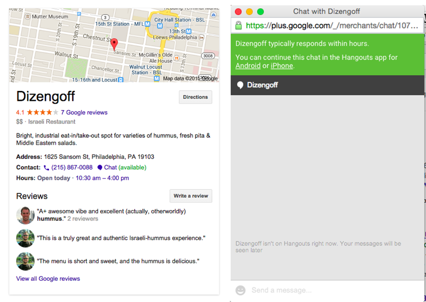 Google-local-chat
