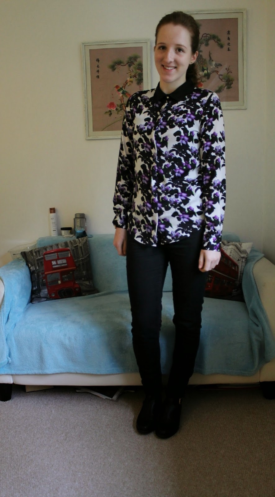 Outfit-of-the-day-OOTD-Patterned-Shirt-Mac-H&M-New-Look