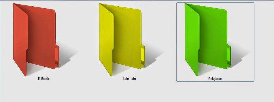 folder menjadi warna reggae