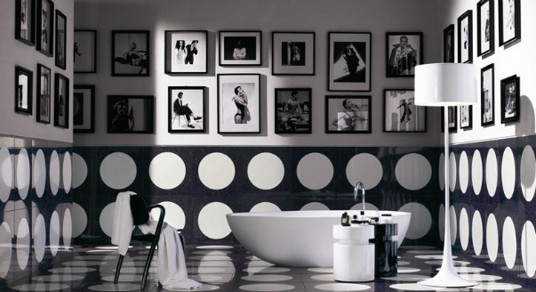 Bathroom Decor Black And White Design Best Black White
