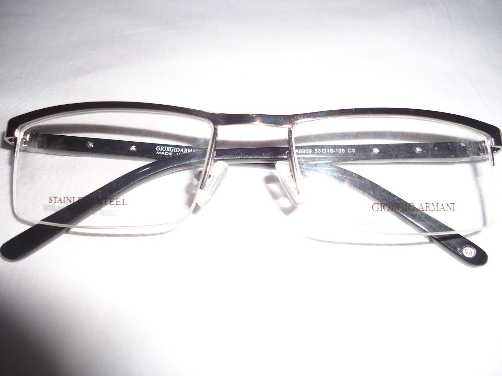 Armani Rimless Glasses Frames : Buy Frames, Sunglasses,Contact lenses : GIORGIO ARMANI ...