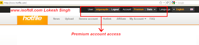 premium account of hotfile for free