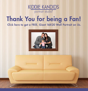 Free Giant 16×20″ Wall Portrait at Kiddie Kandids