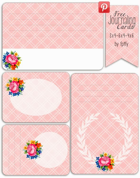 free printables, journal card, project life, printable cards,