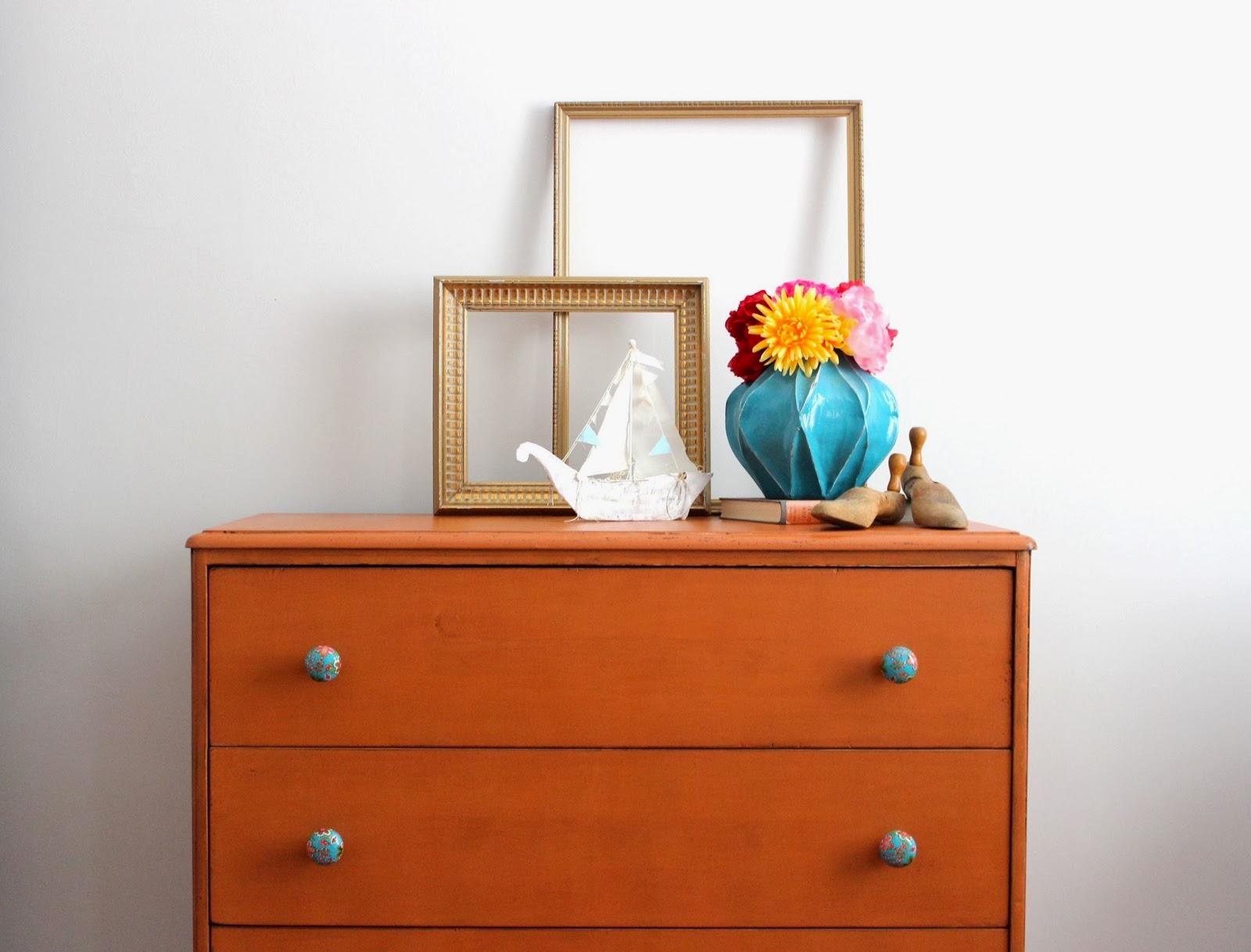 poppyseed creative living pumpkin orange dresser - pumpkin orange dresser