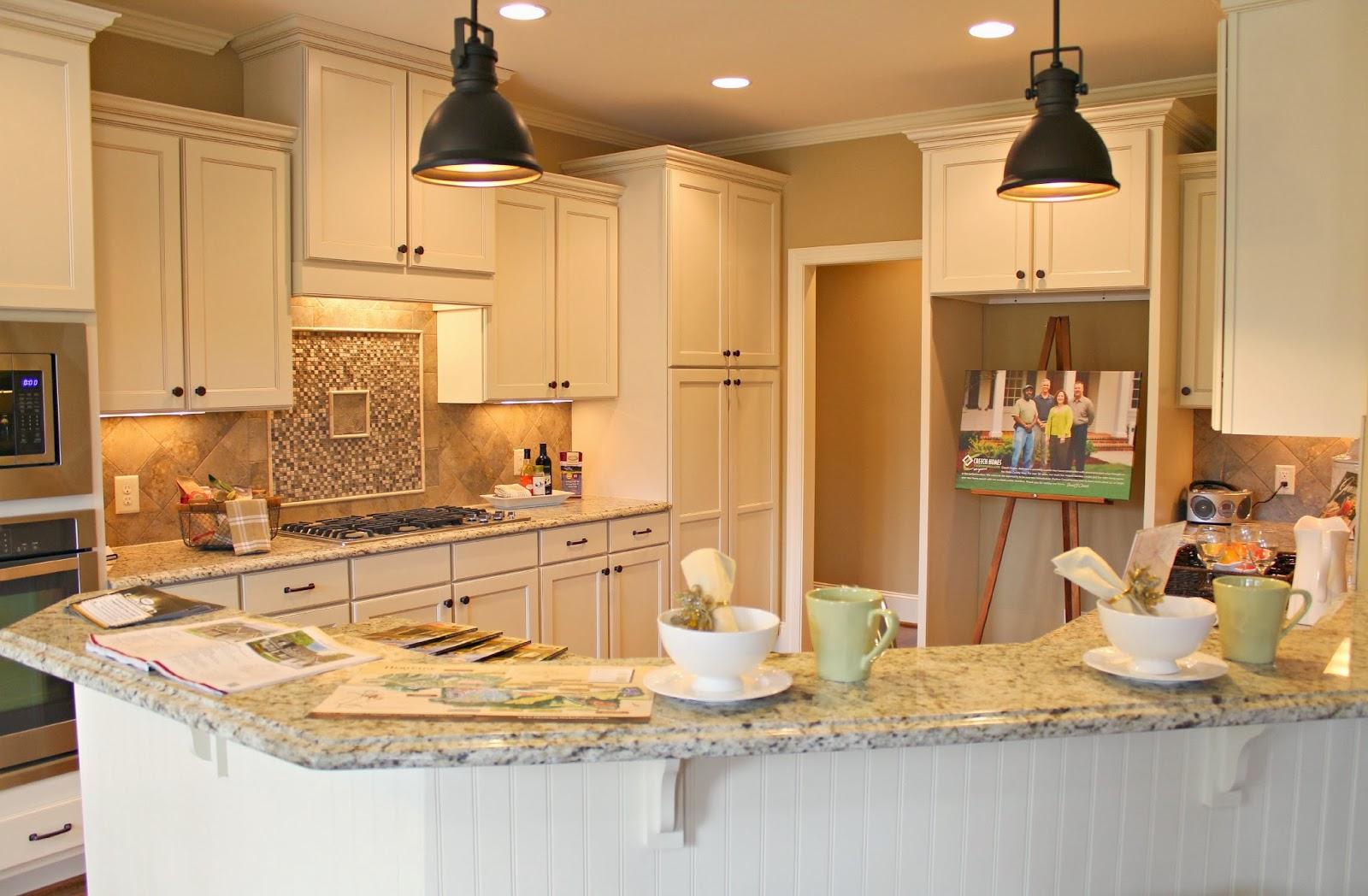 Tan Brown Granite White Cabinets