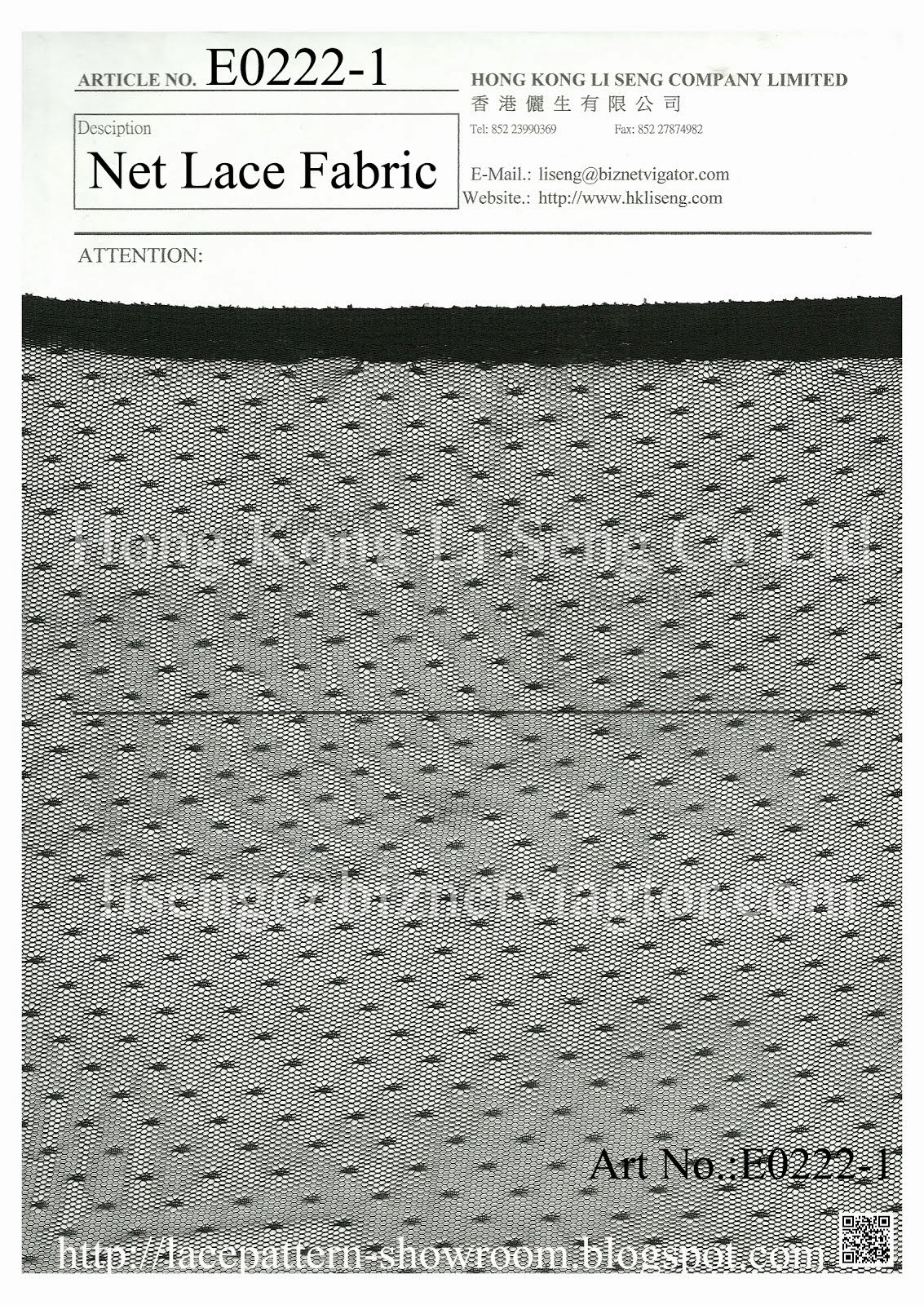 Black Net Lace Fabric Wholesale and Supplier - Hong Kong Li Seng Co ltd