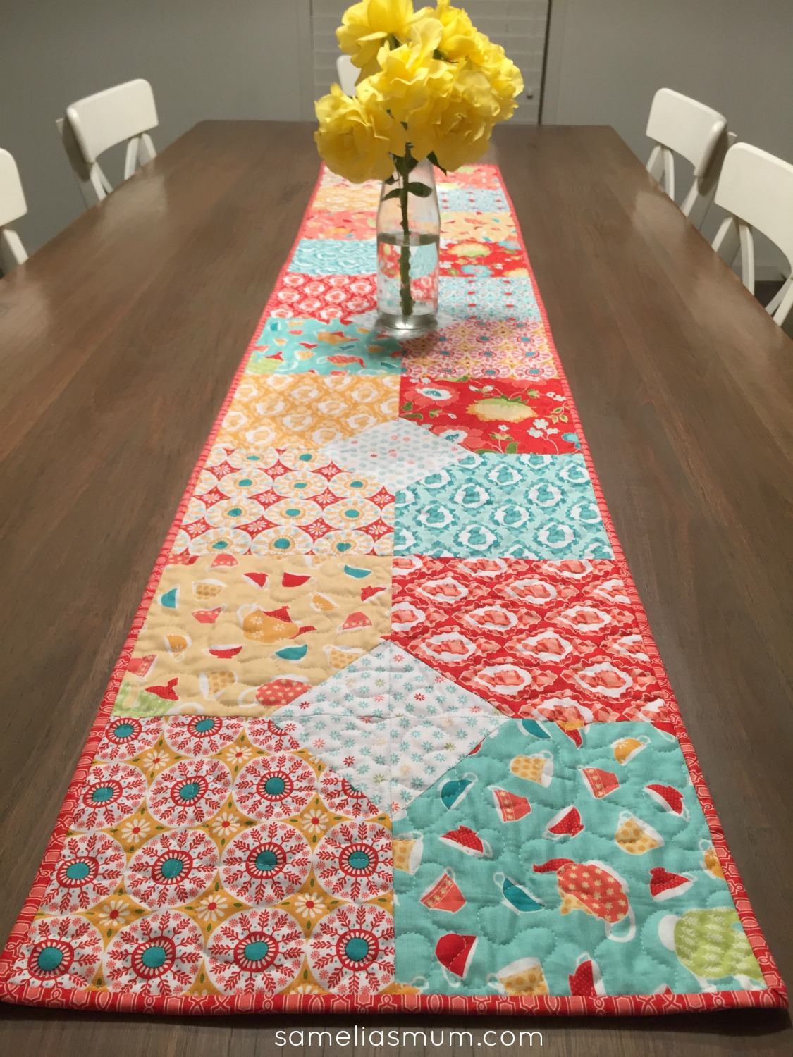 the a runners of quilted patterns mirror make quilt table to runner holland dining modern how image