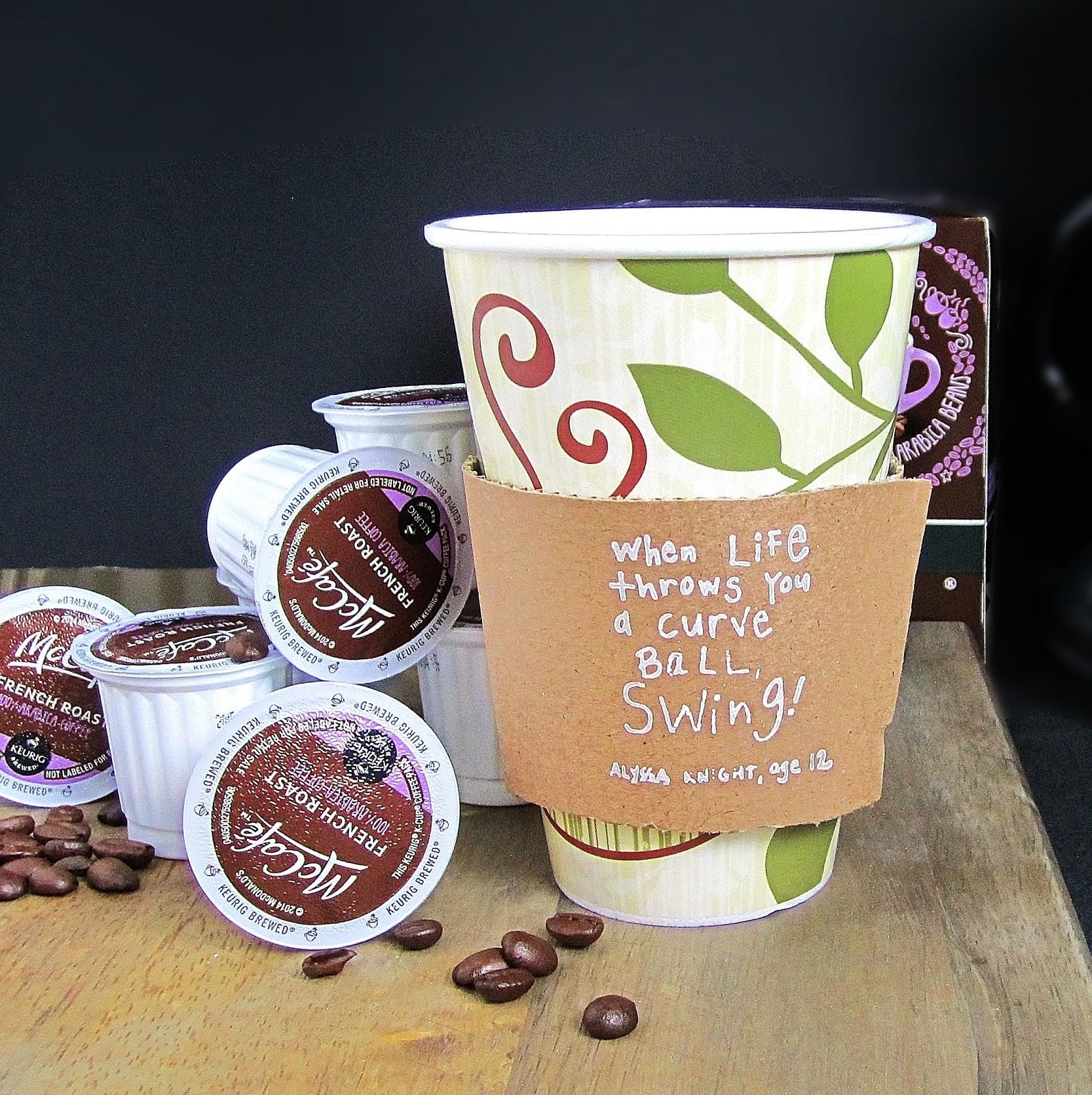 365 Designs new McCafé single brew coffee with printable cup sleeve