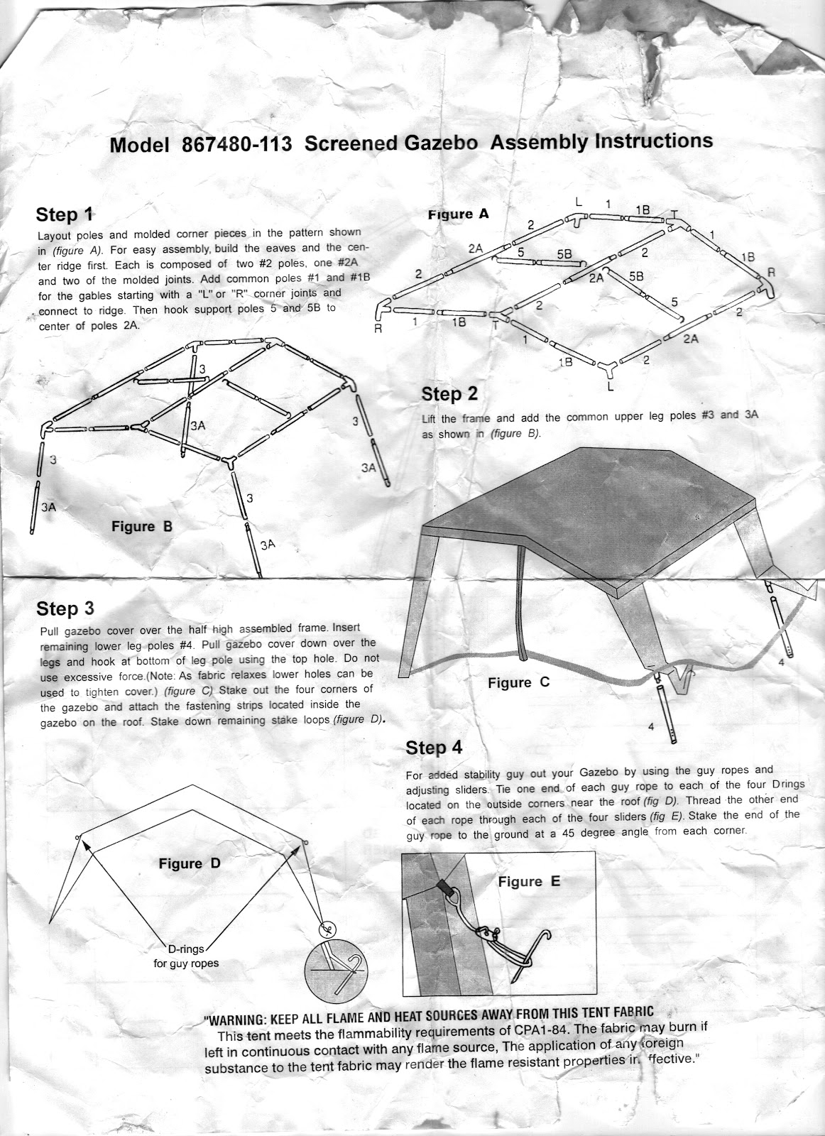 Northwest Territories 9x13 Screen House Assembly Instructions