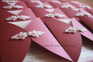 Chinese oriental wedding invitation