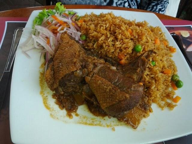 FOTO DEl arroz con pato