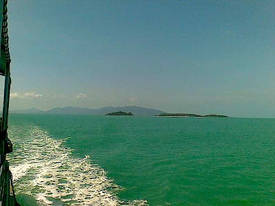View of the Koh Samui channel in the Gulf of Thailand