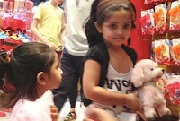 Anoushka with doll