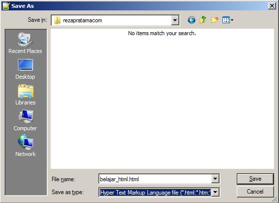 save html - reza pratama