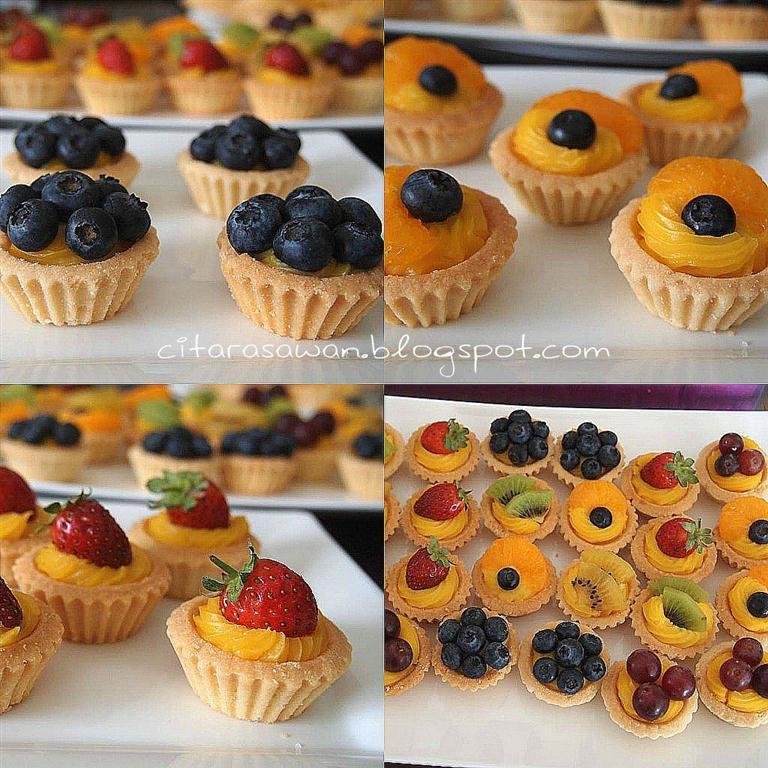 Custard Fruit Tart / Tart Buah Kastard