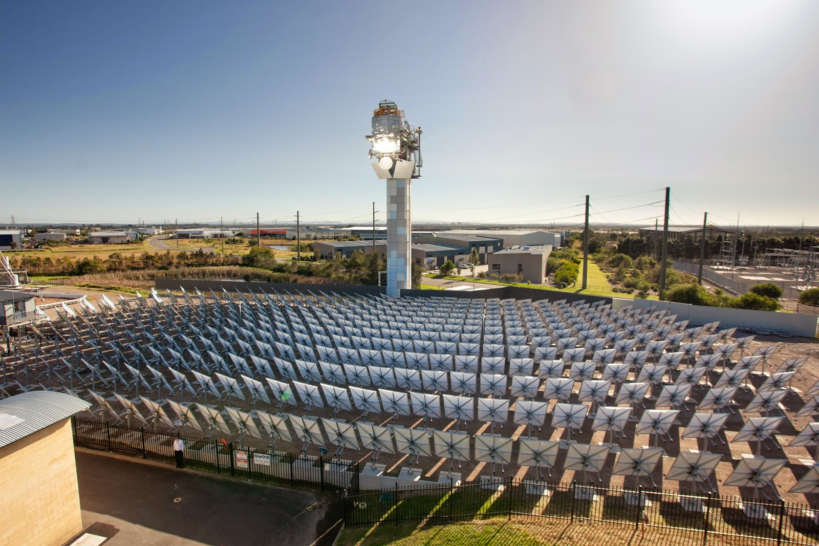 CSIRO Solar tower in operation