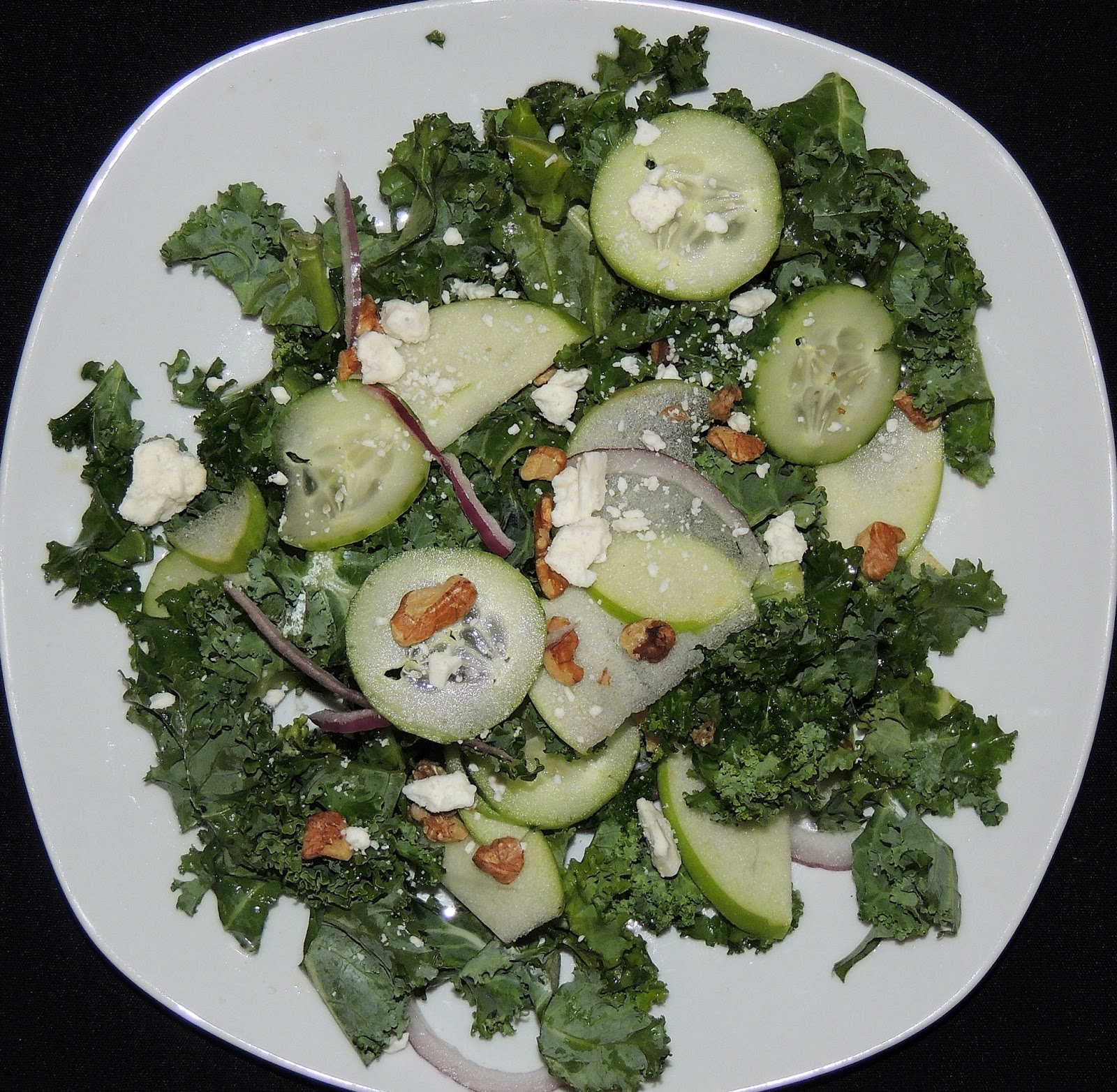 Gas Stove Girl: Kale, Green Apple, and Feta Salad