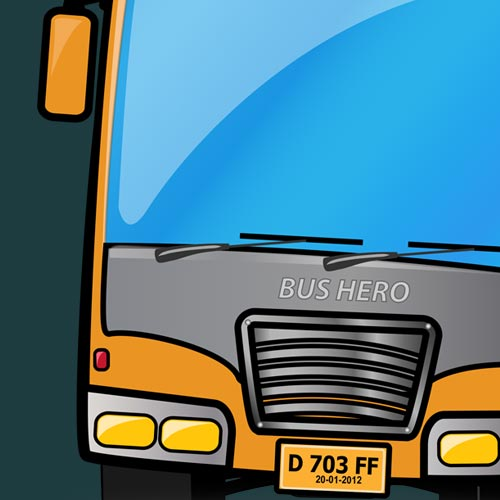 Travelling Bus vector graphic