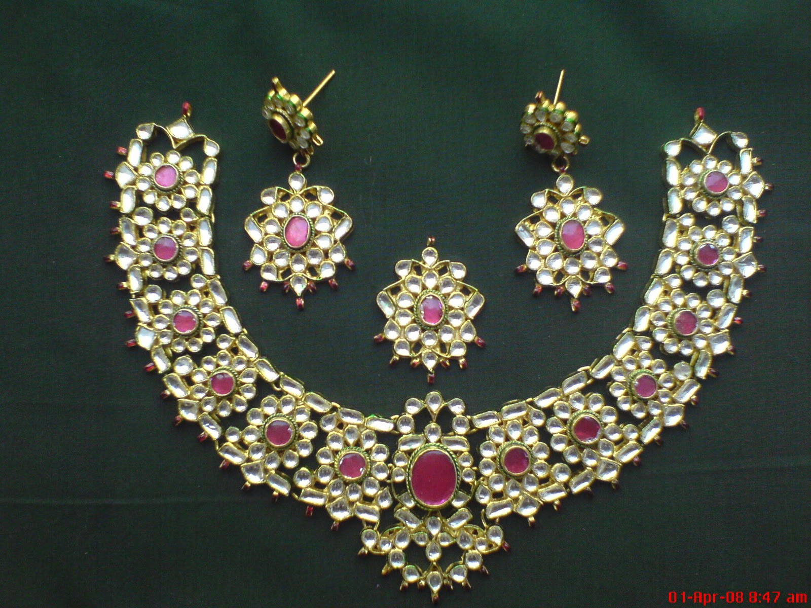 jewellery green traditional design buy set necklace fashion indian pin festive jewelry beautiful pink kundan