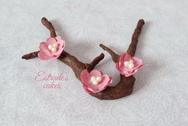 flor de cerezo de papel de arroz 3