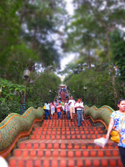 Stairs to temple on Doi Suthep, Chiangmai