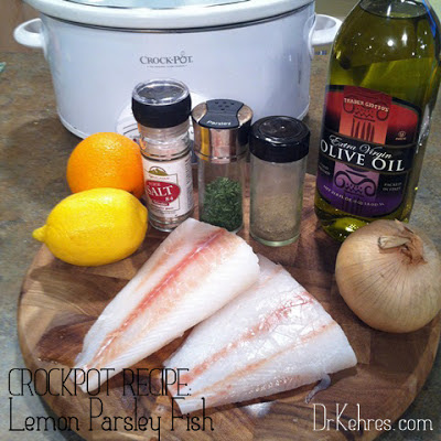 Health blog recipe crockpot lemon parsley for Crockpot fish recipes